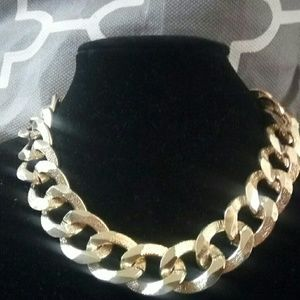 Chain statement necklace goldtone